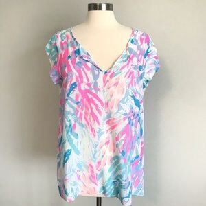 Lilly Pulitzer Shelley Top / Sparkling Sands Print